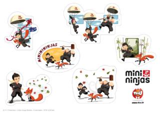 Amuse-toi avec ta nouvelle série Tfou ! Imprime gratuitement ces stickers Mini Ninja et colle-les où tu veux : dans ta chambre ou sur tes cahiers... Offre-toi une décoration Mini Ninja avec TFou ! Exercés aux arts martiaux, aux techniques de combat ninja et dotés de pouvoirs magiques, les Mini Ninjas sont toujours prêts à se battre pour libérer les animaux. Pour autant, n'oublions pas qu'ils ne sont encore que des enfants : la moindre occasion est bonne pour s'amuser.