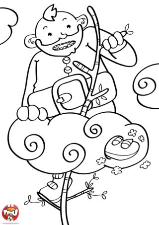 Coloriage: Ogre qui grimpe