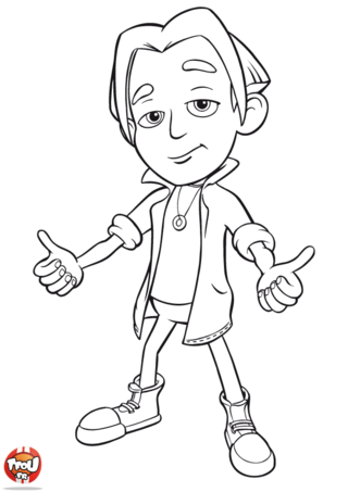 Coloriage: Nick Dean is ready
