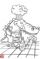Crocodile affamé