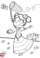 Princesse chasse les papillons