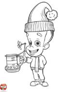 Jimmy et sa tasse de café