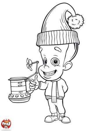 Coloriage: Jimmy et sa tasse de café