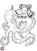 Sirène danse avec la pieuvre