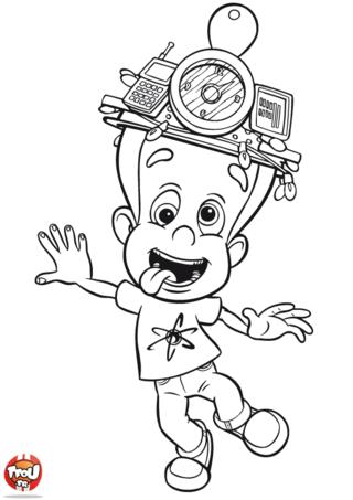 Coloriage: Jimmy et son chapeau bizarre