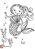 Sirène et éventail
