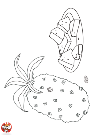 Coloriage: Ananas