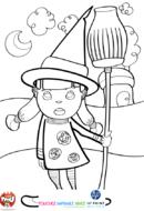 La petite fille en sorcière