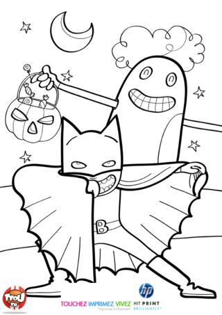 Coloriage: Fantôme et super héros