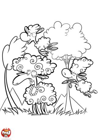 Coloriage: Saute-mouton