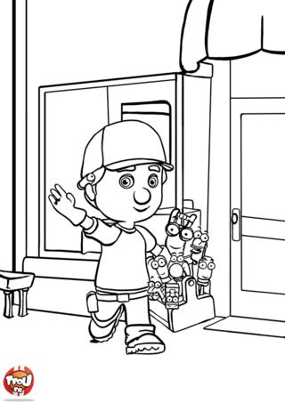 Coloriage: Manny et sa boîte à outils