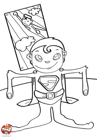 Coloriage: Trop petit pour faire superman