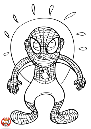 Coloriage: Spiderman énervé