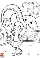 L'éléphant aspire les pop corn