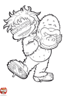 Charles-Edouard en gorille
