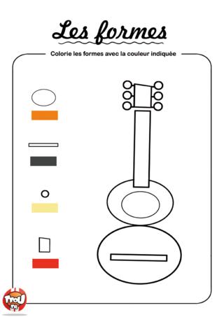 Coloriage: Colorie les formes 1