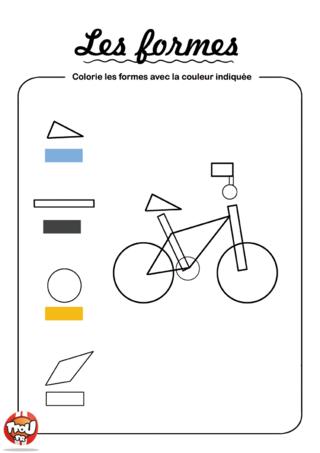 Coloriage: Colorie les formes 2