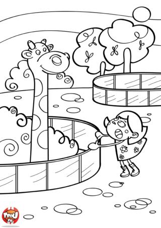 Coloriage: La grande girafe