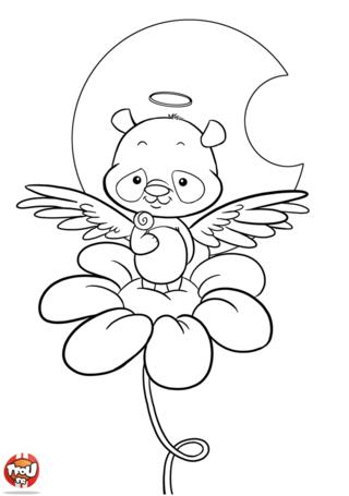 Coloriage: Panda ange