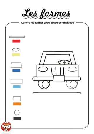 Coloriage: Colorie les formes 3
