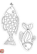 Deux poissons d'avril à découper