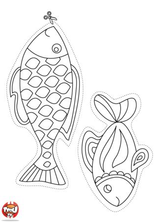 Coloriage : et si tu faisais des blagues à tes amis ? Pour le 1er avril, imprime gratuitement sur TFou.fr des coloriages poisson d'avril sur TFou.fr. Il y a toute sorte de poissons : des petits, des grands, des longs, des poissons qui font des bulles... Tu as plein de choix de coloriage Poisson d'avril pour le 1er avril sur TFou.fr. Prends tes plus beaux crayons de couleurs, colorie tous les poissons que tu veux, découpe-les et fais des blagues à tous tes copains. Le 1er avril est un super jour pour faire un max de blague grâce à TFou.fr.