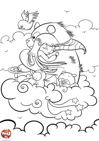 Coloriage: Grand panda