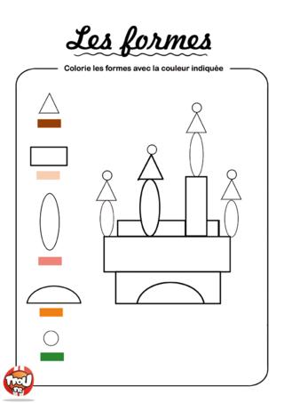 Coloriage: Colorie les formes 4