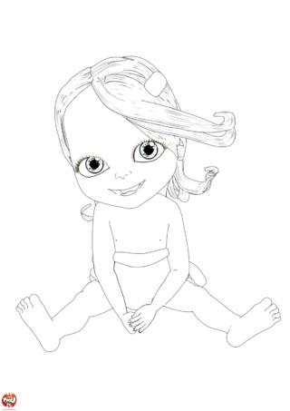 Coloriage: Bébé lilly heureuse