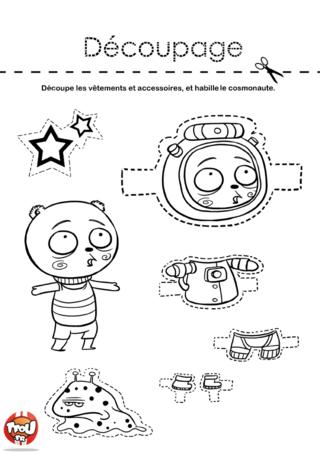 Coloriage: Le cosmonaute