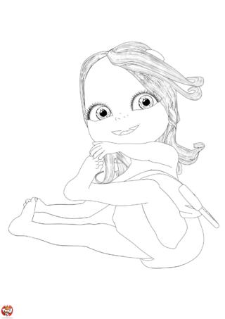 Coloriage: Bébé Lilly souriante