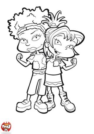 Coloriage: Susie et Kimi