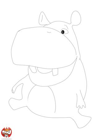 Coloriage: L'hippo