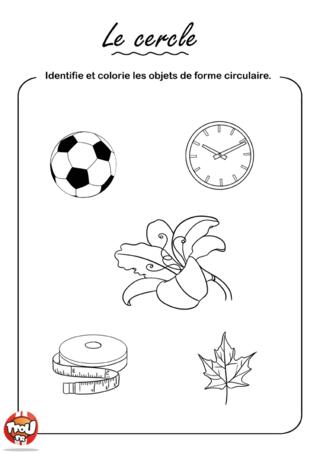 Coloriage: Le cercle