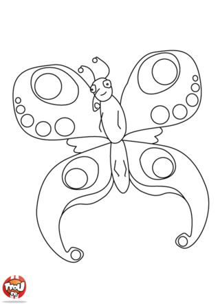 Coloriage: Papillon