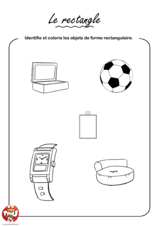 Coloriage: Le rectangle