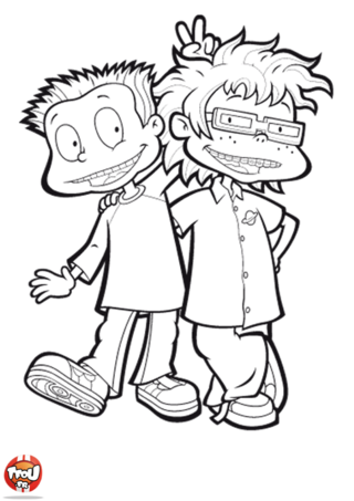 Coloriage: Tommy et Charles-Edouard