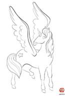 Coloriage-Licorne avec étoile