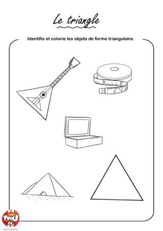 Coloriage: Le triangle