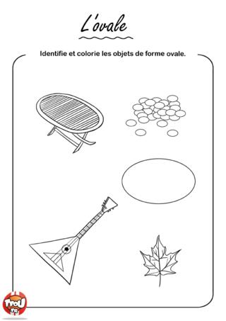 Coloriage: L'ovale