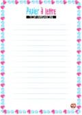 papier à lettre - coeur - mode