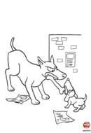Bébé chien et grand chien