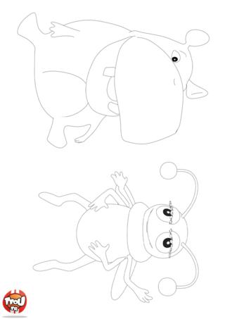 Coloriage: L'hippo et l'insecte