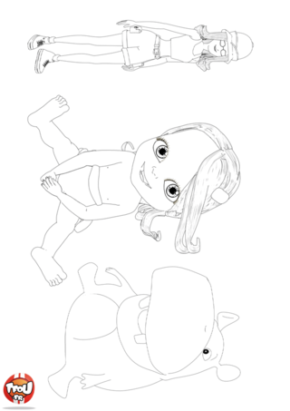Coloriage: Bébé Lilly et ses amis 2