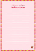 papier à lettre - fleur- mode