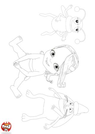 Coloriage: Bébé Lilly et ses amis
