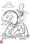 A cheval sur un serpent