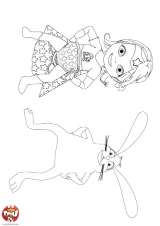 Coloriage: Super Bébé Lilly et Copain lapin