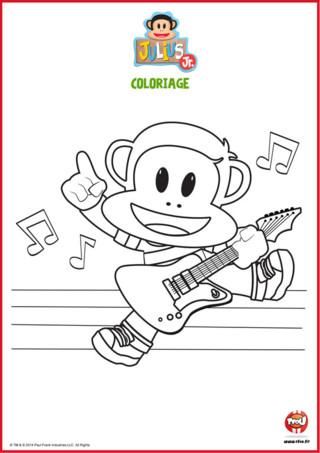 Tu aimes faire de la musique ? Imprime vite ce coloriage gratuit spécial Julius Jr sur TFou.fr ! Julius est un singe qui aime jouer de la guitare avec sa bande. Si toi aussi tu aimes ce super instrument, ou que tu es simplement fan de musique, n'attends plus pour imprimer ce coloriage gratuit à imprimer sur TFou.fr !