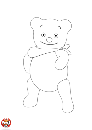 Coloriage: Copain Ours
